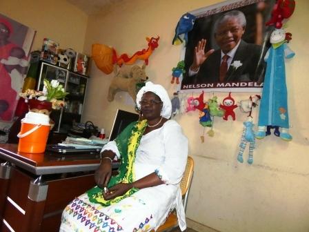 Fondatrice du Centre d'Accueil et d'hébergement pour enfant ''Nelson Mandela''